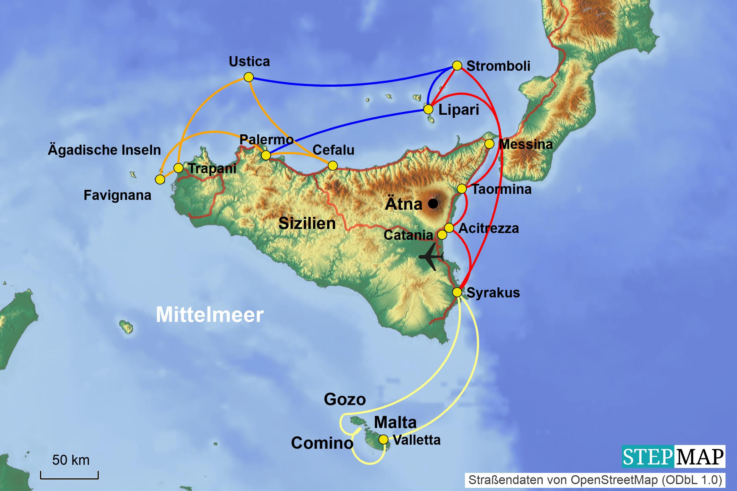 Sizilien Karte ätna.Kw 29 20 Sizilien ätna Taormina Straße Von Messina Lipari